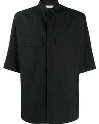 schwarzes Kurzarmhemd von Ermenegildo Zegna