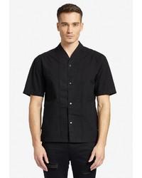 schwarzes Kurzarmhemd von khujo