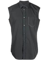 schwarzes Kurzarmhemd von Maison Margiela