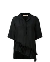 schwarzes Kurzarmhemd von Marni