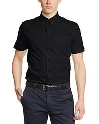 schwarzes Kurzarmhemd von Merc of London