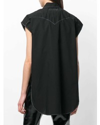 schwarzes Kurzarmhemd von MM6 MAISON MARGIELA