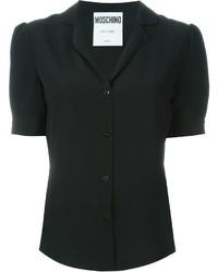 schwarzes Kurzarmhemd von Moschino