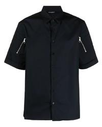 schwarzes Kurzarmhemd von Neil Barrett
