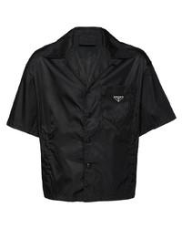 schwarzes Kurzarmhemd von Prada