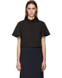 schwarzes Kurzarmhemd von Proenza Schouler