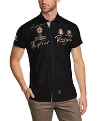 schwarzes Kurzarmhemd von Redbridge