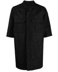 schwarzes Kurzarmhemd von Rick Owens