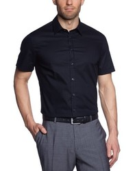 schwarzes Kurzarmhemd von Seidensticker