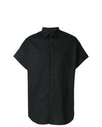 schwarzes Kurzarmhemd von Versace Collection