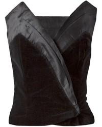 schwarzes kurzes Oberteil aus Samt von Gucci