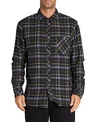 schwarzes Langarmhemd mit Schottenmuster