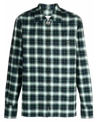 schwarzes Langarmhemd mit Schottenmuster von Lanvin