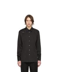 schwarzes Langarmhemd von Alexander McQueen