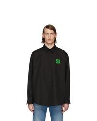 schwarzes Langarmhemd von Balenciaga