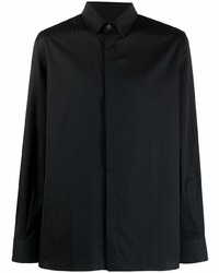 schwarzes Langarmhemd von Balmain