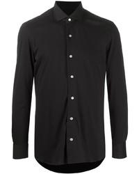 schwarzes Langarmhemd von Boglioli