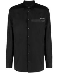 schwarzes Langarmhemd von DSQUARED2
