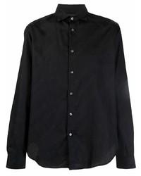 schwarzes Langarmhemd von Emporio Armani