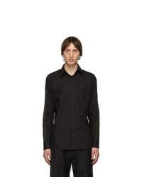 schwarzes Langarmhemd von Fendi