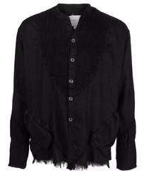 schwarzes Langarmhemd von Greg Lauren