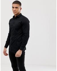 schwarzes Langarmhemd von Jack & Jones