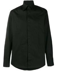 schwarzes Langarmhemd von Karl Lagerfeld