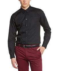 schwarzes Langarmhemd von Merc of London