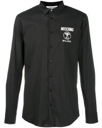 schwarzes Langarmhemd von Moschino