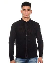 schwarzes Langarmhemd von Oboy Streetwear