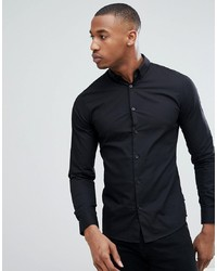 schwarzes Langarmhemd von ONLY & SONS