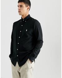 schwarzes Langarmhemd von Polo Ralph Lauren
