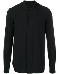 schwarzes Langarmhemd von Rick Owens