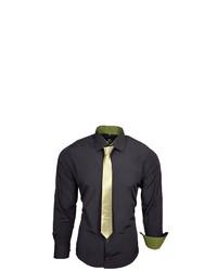 schwarzes Langarmhemd von RUSTY NEAL