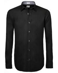 schwarzes Langarmhemd von Signum