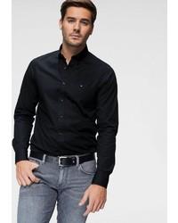 schwarzes Langarmhemd von Tommy Hilfiger
