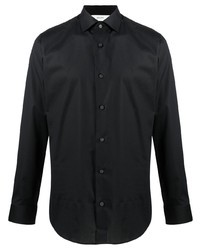 schwarzes Langarmhemd von Z Zegna