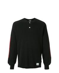 schwarzes Langarmshirt mit einer Knopfleiste von Hysteric Glamour