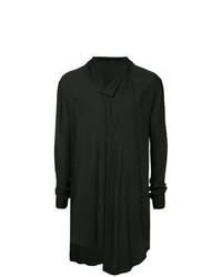 schwarzes Langarmshirt mit einer Knopfleiste von Julius