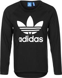 schwarzes Langarmshirt von adidas