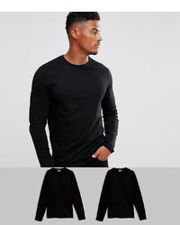 schwarzes Langarmshirt von ASOS DESIGN