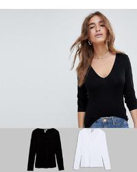 schwarzes Langarmshirt von Asos Petite