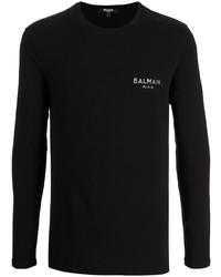 schwarzes Langarmshirt von Balmain