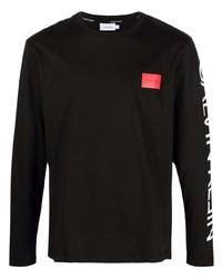 schwarzes Langarmshirt von Calvin Klein