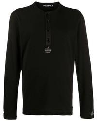 schwarzes Langarmshirt von Dolce & Gabbana
