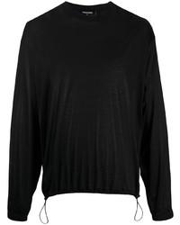 schwarzes Langarmshirt von DSQUARED2
