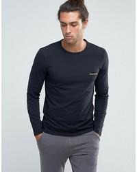 schwarzes Langarmshirt von Emporio Armani