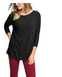 schwarzes Langarmshirt von ESPRIT Collection