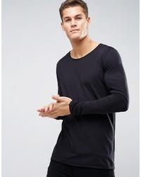 schwarzes Langarmshirt von Hugo Boss