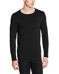 schwarzes Langarmshirt von Karl Lagerfeld